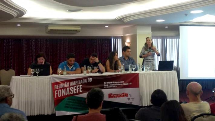 SINASEFE Natal participa da Reunião Ampliada do FONASEFE