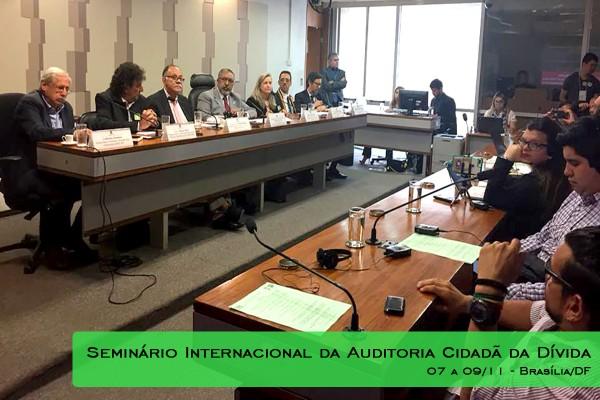 SINASEFE Natal marca presença no Seminário Internacional da Auditoria Cidadã da Dívida