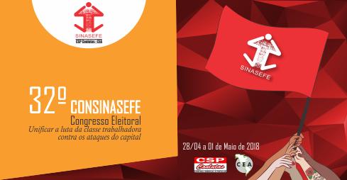 32º CONSINASEFE será realizado de 28/04 a 01/05, em Brasília-DF