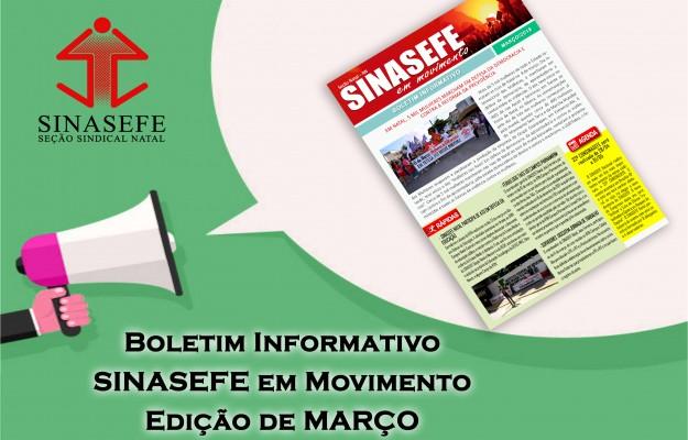 Boletim Informativo SINASEFE em Movimento – Edição de Março