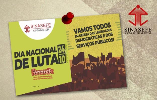 24/10: todas e todos ao Dia Nacional de Paralisação, Luta e Resistência!