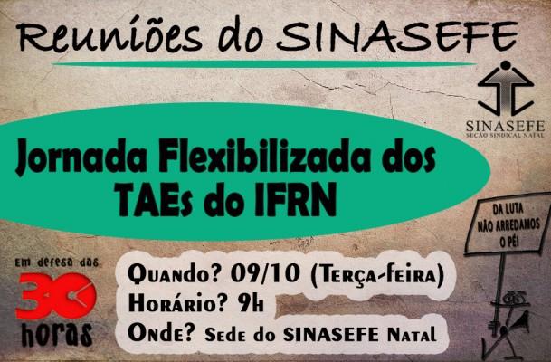 Reunião para elaborar documento da jornada flexibilizada dos TAEs acontece nesta terça-feira (09/10)