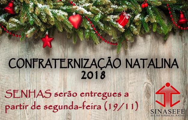 SINASEFE Natal e ASIF-RN realizam Confraternização Natalina; senhas serão entregues a partir de segunda-feira (19/11)