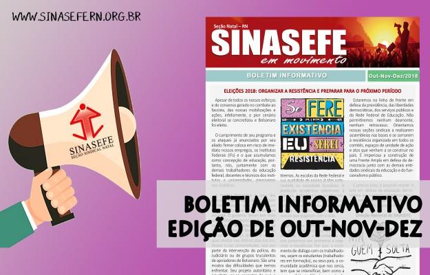 Boletim Informativo SINASEFE em Movimento   Edição de Outubro, Novembro e Dezembro