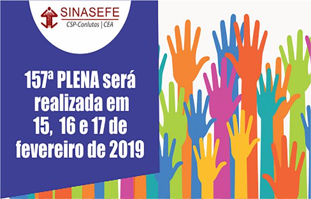 157ª PLENA acontecerá de 15 a 17 de fevereiro em Brasília-DF